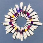 Small porcelain circle (purples)