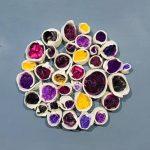 Small porcelain tubes(purples)