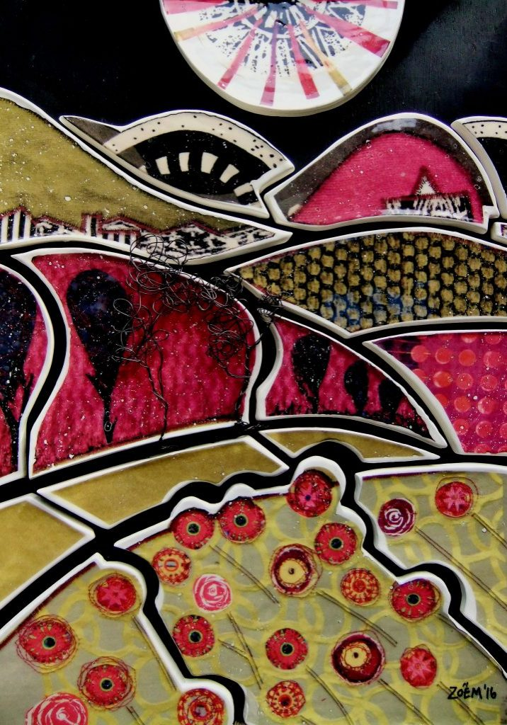 Pink Landscape ceramic . copy